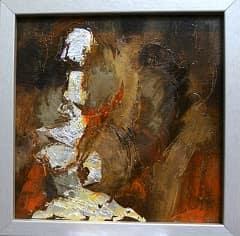Petites toiles abstraites par l'artiste peintre Frédérique Clément