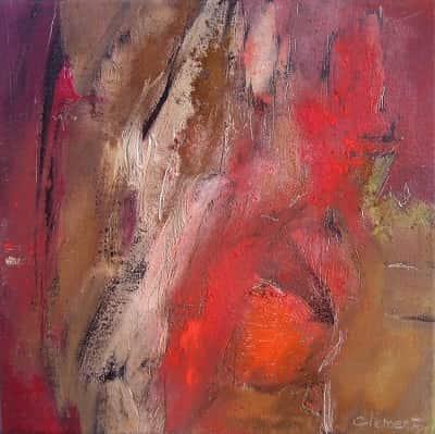 horizons abstraits par l'artiste peintre Frédérique Clément